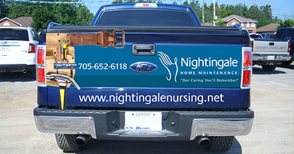 Nightingale Home Maintenance truck (back view)